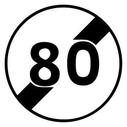 PANNEAU FIN D'INTERDICTION 80 (B33_80)