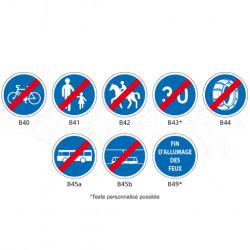 Signaux de fin d'obligation - Type B