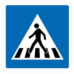 Panneau routier ECOLIGN - PASSAGE PIETONS (C20a)