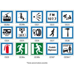Panneau routier - Signaux d'indication - Type CE