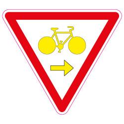 PANNEAU CYCLISTE CEDEZ LE PASSAGE (M12a)