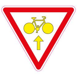 PANNEAU CYCLISTE CEDEZ LE PASSAGE (M12b)