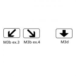 Panonceaux Routiers - Type M3b et M3d