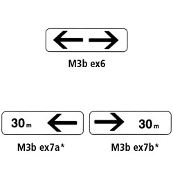 Panonceaux routier - Type M3b