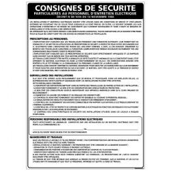 Panneau PERSONNEL D'ENTRETIEN ELECTRIQUE (A0315)