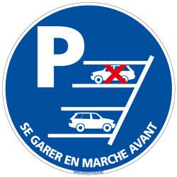 Panneau SE GARER EN MARCHE AVANT (E0619)
