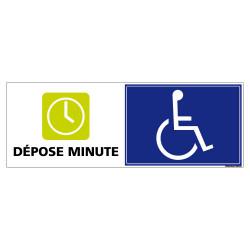 PANNEAU DEPOSE MINUTE POUR PERSONNE A MOBILITE REDUITE (G1288)