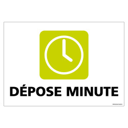 PANNEAU DEPOSE MINUTE (G1289)