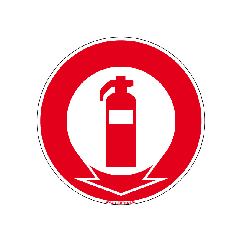 Panneau Incendie EXTINCTEUR ICI (A0040)