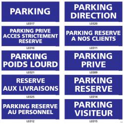 Panneaux parking