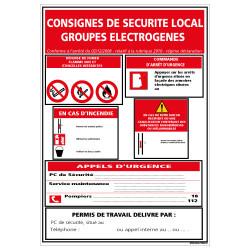 Panneau - Consignes danger electrique (A0584)
