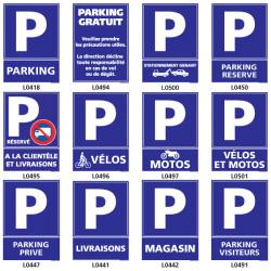 Panneau d'indication de parking