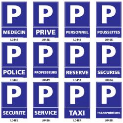 Panneaux de parking