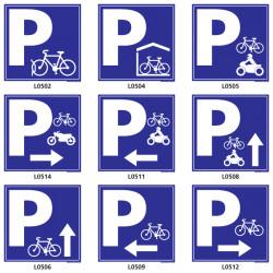 Panneaux parking vélo et moto