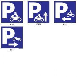 Panneau parking pour vélo