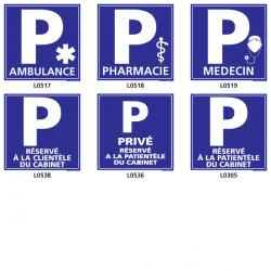 Panneau parking spécial médical