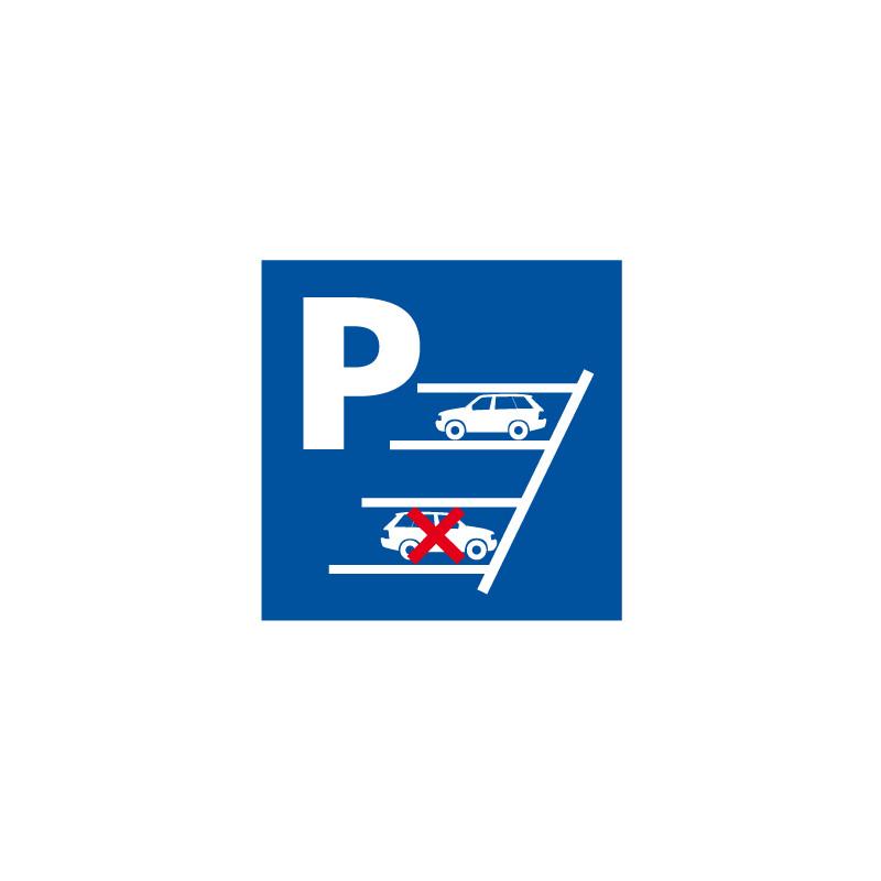 Panneau de signalisation PARKING, SE GARER EN MARCHE ARRIERE (L0570)