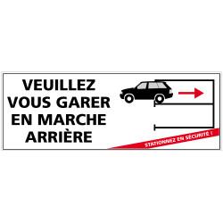 Panneau de signalisation VEUILLEZ VOUS GARER EN MARCHE ARRIERE (L0574)