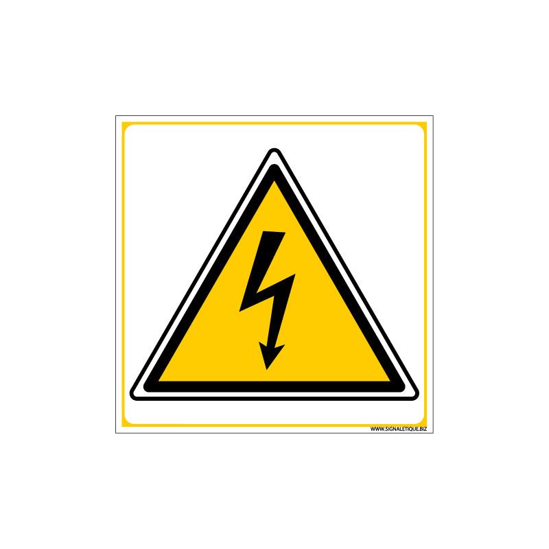 PANNEAU DANGER ELECTRIQUE (C0027)