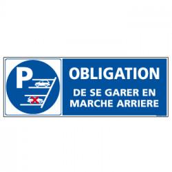 Panneau de Signalisation SE GARER EN MARCHE ARRIERE (L0578)