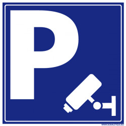 Pictogramme de signalisation PARKING SOUS VIDEOSURVEILLANCE (L0589)