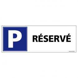 Panneau de signalisation parking réservé (L0592)