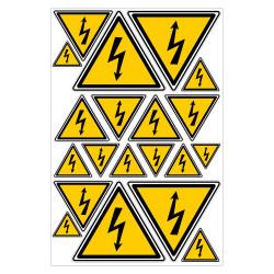 PLANCHE DE STICKERS DANGER ELECTRIQUE (C0027T_PL20)