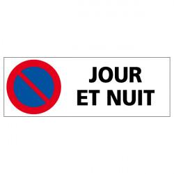 PANNEAU DE SIGNALISATION STATIONNEMENT INTERDIT JOUR ET NUIT (L0598)