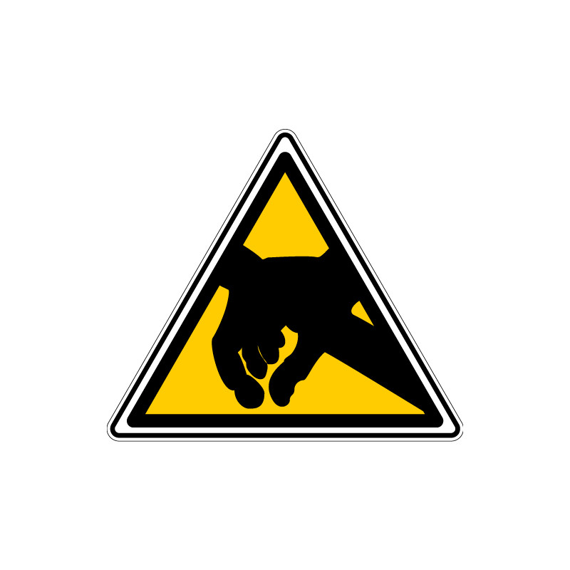 ADHESIF DANGER ELECTROSTATIQUE (C0029T)