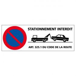 PANNEAU DE SIGNALISATION STATIONNEMENT INTERDIT (L0600)