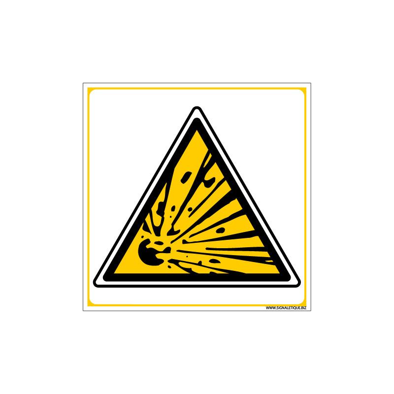 Panneau DANGER MATIERES EXPLOSIVES (C0041)