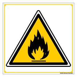 PANNEAU DANGER MATIERES INFLAMMABLES (C0042)