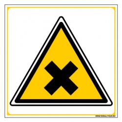 Panneau DANGER MATIERES NOCIVES OU IRRITANTES (C0043)