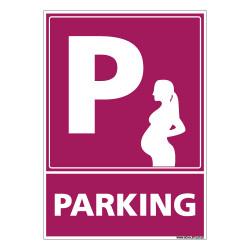 PANNEAU PARKING FEMME ENCEINTE (L0761)