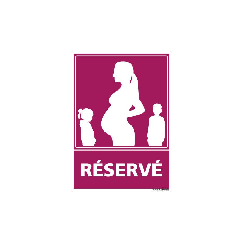 PANNEAU PARKING RESERVE AUX FEMMES ENCEINTES (L0762)