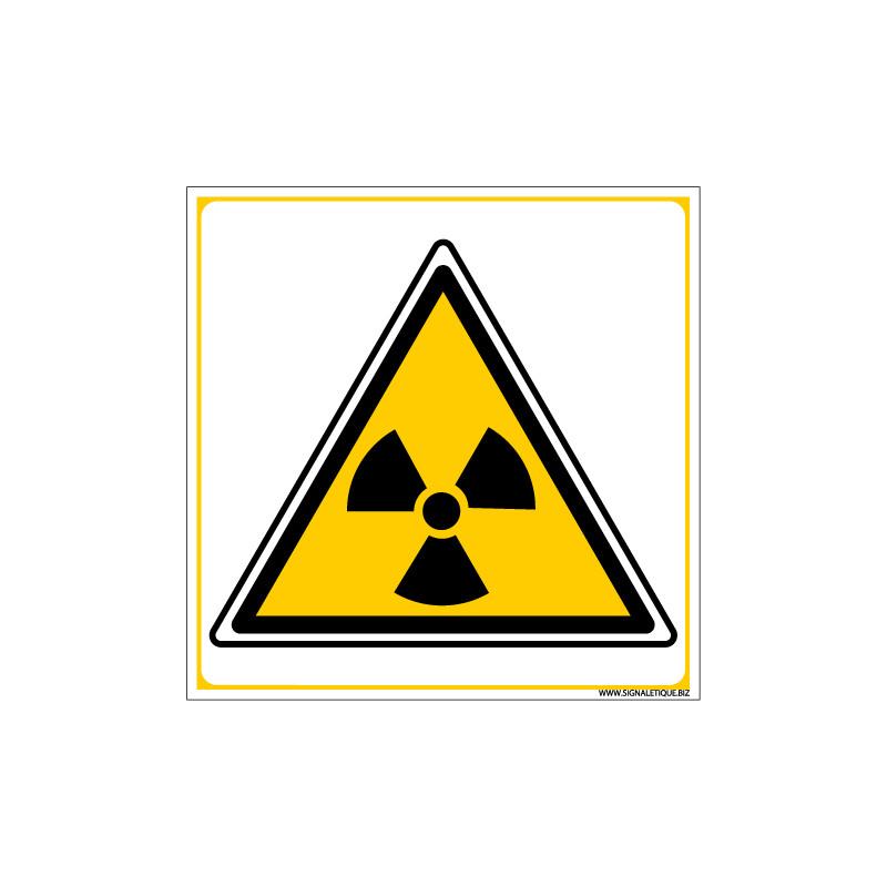 Panneau DANGER RISQUE IONISANT (C0047)