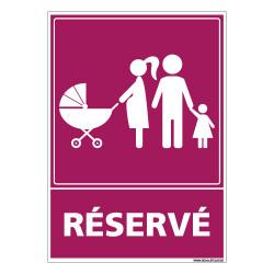 PANNEAU PARKING RESERVE POUR LES FAMILLES (L0766)