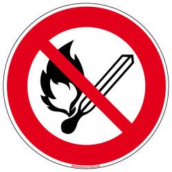 Panneau Incendie FLAMME INTERDITE (A0043)