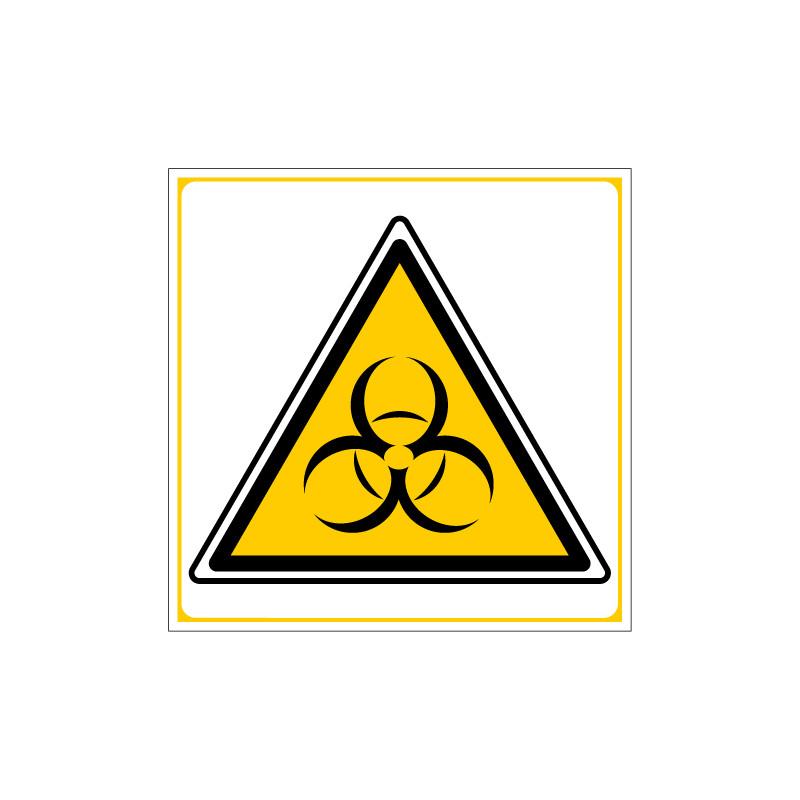 PANNEAU DANGER RISQUES BIOLOGIQUES (C0052)