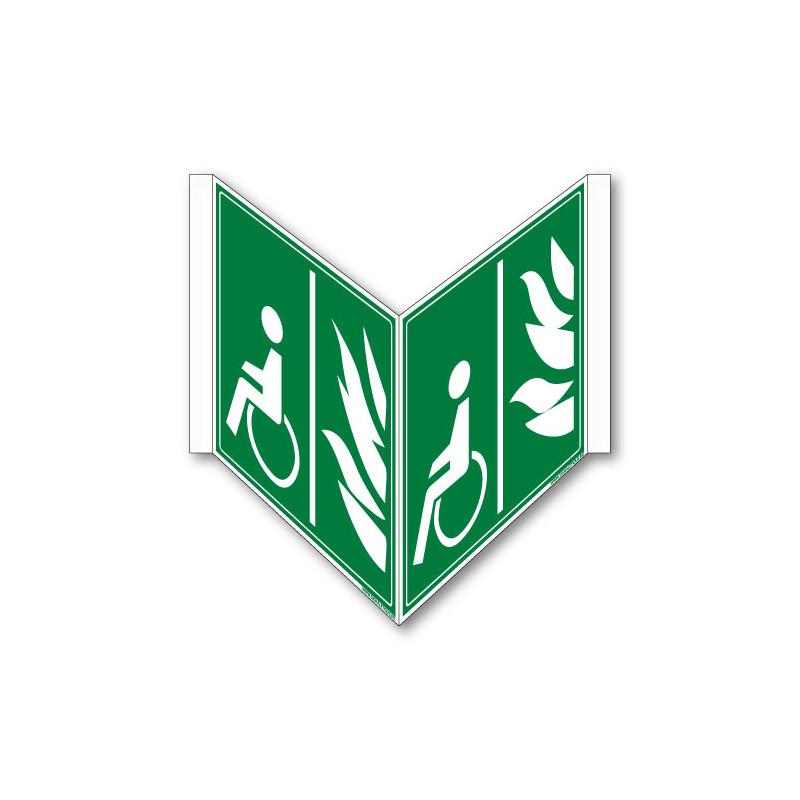 PANNEAU ESPACE D'ATTENTE SECURISE TRIDIMENSIONNEL (B0346-TRI)