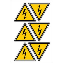 PLANCHE DE PICTOGRAMME DANGER ELECTRIQUE (C0027T_PL6)