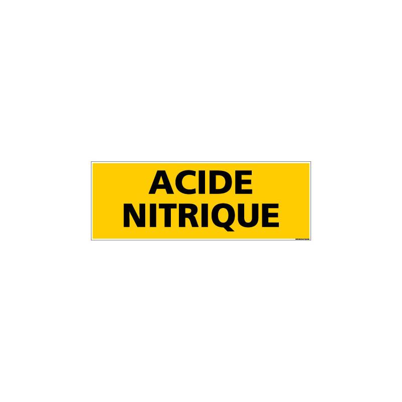 Panneau de Signalisation danger ACIDE NITRIQUE (C0087)