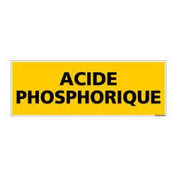 Panneau de Signalisation danger ACIDE PHOSPHORIQUE (C0088)