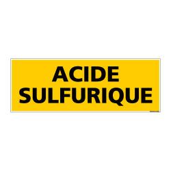 Panneau de Signalisation danger ACIDE SULFURIQUE (C0089)