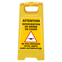 CHEVALET DE SIGNALISATION INTERVENTION DE DRONE EN COURS (WPSG693I)