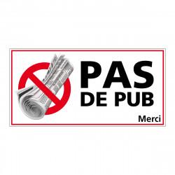 ADHESIF PAS DE PUB (G1276)
