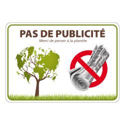 AUTOCOLLANT PAS DE PUBLICITE (G1300)