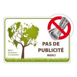 AUTOCOLLANT PAS DE PUBLICITE (G1301)