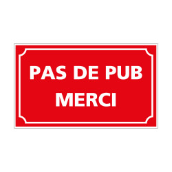 ADHESIF PAS DE PUB MERCI (G1404)