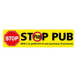 ADHESIF STOP PUB - NON A LA PUBLICITE ET AUX JOURNAUX D'ANNONCES (G1525)